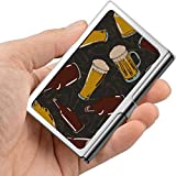 Colorido Crear bebida Botella de bebida Caja de tarjeta de visita para hombre Soporte de tarjeta de visita personalizado Profesional Metal 3.81x 2.7 X 0.29 pulgadas Soporte de tarjeta de visita de co