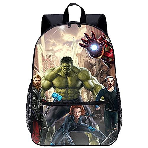 LGBCK Zaino moda bambino personalizzato Avengers 2: Age of Ultron Borsa da scuola stampata in 3D, borsa da scuola per il tempo libero per bambini, adatta per ragazzi e ragazze