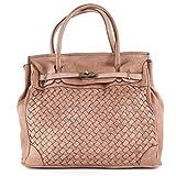 Superflybags Damentasche Handtasche Modell GALICIA In echtem Leder Gewaschen/Geflochten Made In Italy