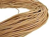 Cordino rotondo in cuoio, 3 mm,naturale-, naturale, 5 metri