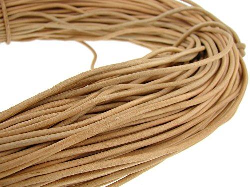 Cuerda de piel redonda de 3 mmNatural.Longitud seleccionable., naturaleza, 10 m