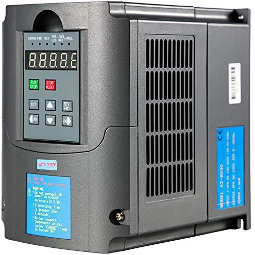 VEVOR Frequenzumrichter 3 KW VFD Frequenzumrichter 220V Wechselrichter für Drehmaschinen Fräsmaschinen LKW Krane Pumpen und Förderer