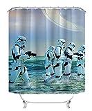 Cortina de la ducha Rogue One: A Star Wars Story movie poster Dobladillo ponderado lavable impermeable anti-moho, cortina de ducha anti-bacteriana hecha de poliéster, con 12 anillos 180x180cm