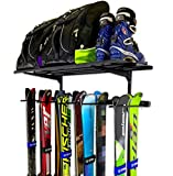StoreYourBoard Omni Ski Wall Rack and Storage Shelf, Holds 10 Pairs, Ski Wall Mount, Home and Garage Storage Hanger