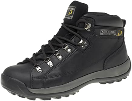 MENS LADIES SAFETY STEEL TOE CAP WORK BOOTS. MODERN ANKLE TRAINER BOOTS SIZES 5-13 UK BLACK & HONEY