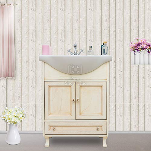 Shop Chic Arredo Bagno Base e lavabo 65cm in Finitura Avorio decapè