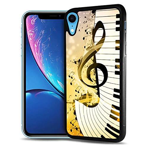 HOT12221 Schutzhülle für iPhone XS, iPhone X, strapazierfähig, weiche Rückseite, Handyabdeckung, Motiv: Musikzeichen
