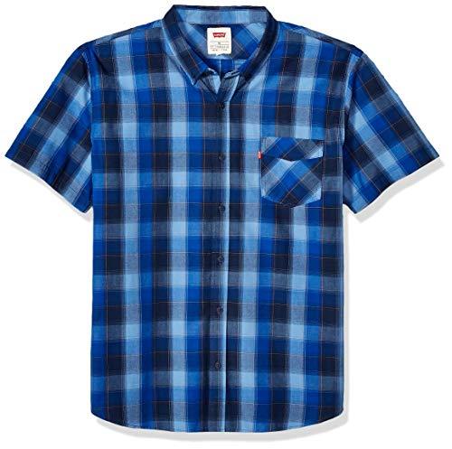 Levi's Men's Short Sleeve Woven Shirt, True Blue/Vernon Plaid, 2X Large