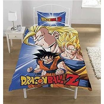 Dragon Ball Z New Official Battle Duvet Set Reversible Children s Novelty Bedding Duvet Cover and Pillowcase Set  UK Single/US Twin