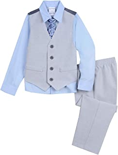 Boys' Little 4-Piece Formal Dresswear Vest Set