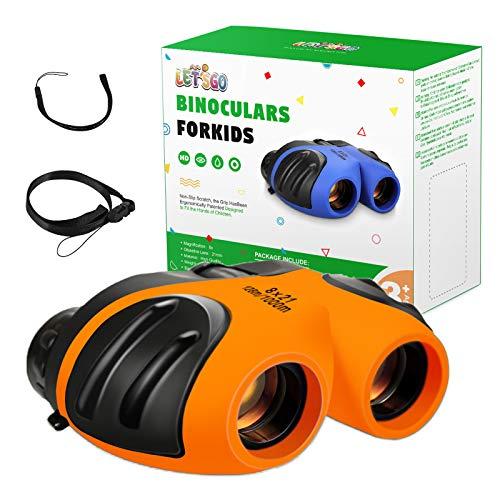 LET'S GO! Kids Binoculars, Compact Binoculars for Kids Gifts for 3-12 Years...