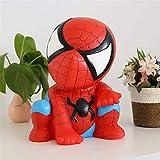 Hucha,Hucha de spiderman, juguete de vinilo para niños anti-caída, regalo creativo, banco de monedas, grande