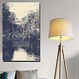 YHZSML Pinturas de Lienzo de Paisaje con impresión Digital HD - Lienzo de Paisaje de Lago y árboles - Carteles de Cuadros de la Gran Muralla sin Marco 60x120cm