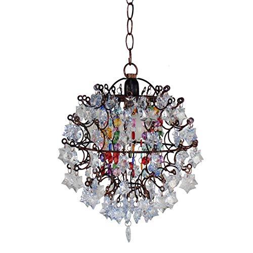 Retro E14 Oriental Hanging Globe Marokkaans ijzer en acryl ontwerp voor kussens restaurant woonkamer diameter 24 cm x 29 cm modern design