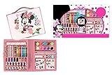 AZM Minnie - Maletín de dibujo con colores - Juego de 52 piezas