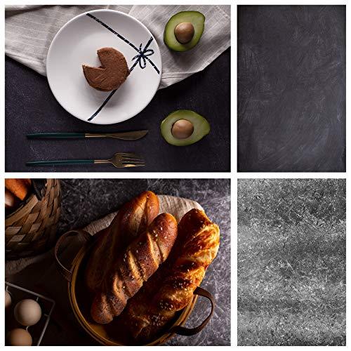 Selens 2 in 1 - Sfondo piatto in cemento, 56 x 88 cm, motivo in pietra, per fotografie di prodotti e prodotti cosmetici, piano del tavolo double-face, sfondo per gourmet cosmetici