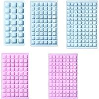 キッチンバーパーティー家庭用アイスグリッドモールド用アイスキューブを製造するために使用される食品グレードPP材料の21/60/96グリッドアイストレートレーメイド 製氷皿 (Color : Pink 21 Grids)