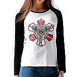 MiiyarHome Women's Long Sleeve Baseball T-Shirts HTC One E8 Case, Girls RaglanSleeves Jersey Tee Shirt Black M