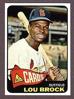 Lou Brock 1965 Topps Baseball Reprint Card (St Louis Cardinals)