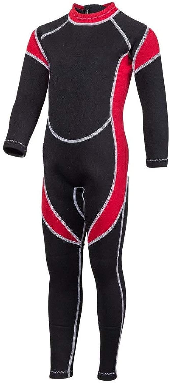 Zengqhui Wetsuit für Kinder Kindertauchanzug Winter-Kalt Warm Schnorcheln Kleidung Einteilige Sonnenschutzkleidung Neoprenanzug thermische Kinder (Farbe   C, Größe   12)