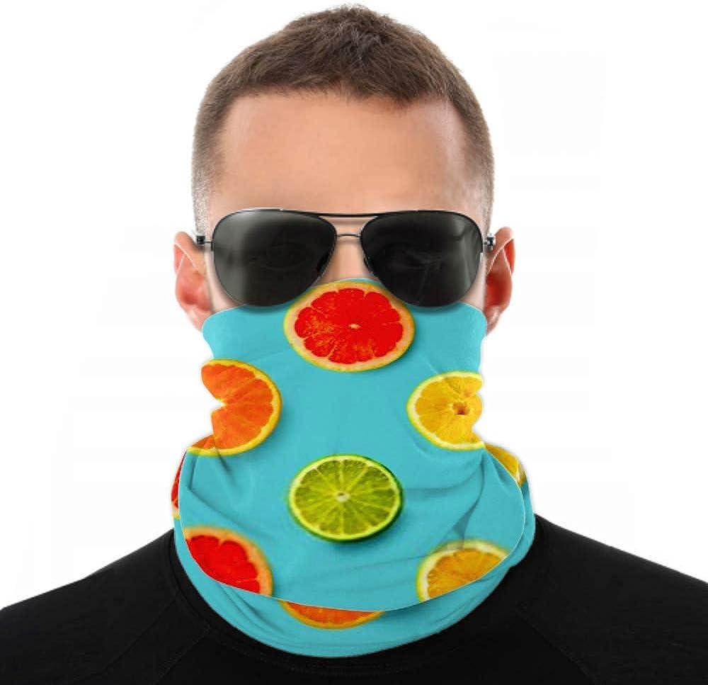 Headbands For Men Women Neck Gaiter, Face Mask, Headband, Scarf Creative Layout Made Lemon Lime Orange Turban Multi Scarf Double Sided Print Workout Headband For Sport Outdoor