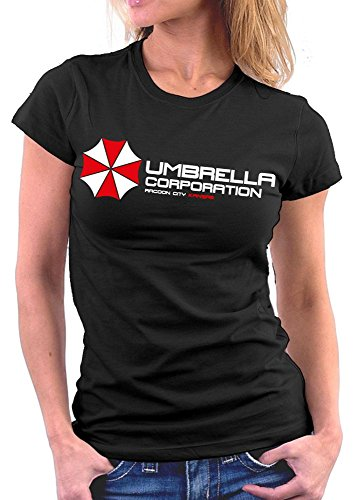 Million Nation Umrella Resident Evil - Camiseta para mujer Negro XL