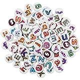 Fangehong 200 Piezas Letras Alfabeto Botones de Madera, 15mm Botones de Redondo con 2 Agujero para DIY Artesanía Hecho a Mano Artículos Marcar el Nombre
