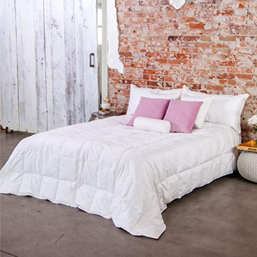 Ogallala White Super King Size Bed Comforter - 600-Fill Power Luxury Goose Down & Milkweed Hypoallergenic Bedding Individually Hand-Crafted - Perfect Duvet or Bedspread, Lightweight & Cooling