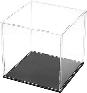 ATATMOUNT Vitrina de acrílico Transparente Modelo de Base Negra Resistente al Polvo Vitrina de Juguete Figuras Encimera de colección