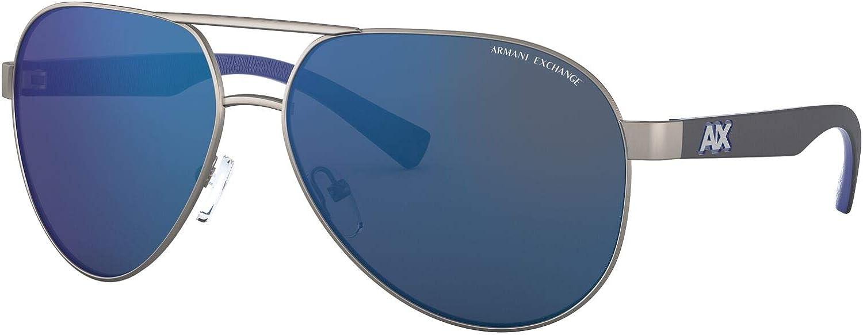 AX Armani Exchange Men's Ax2031s Metal Aviator Sunglasses