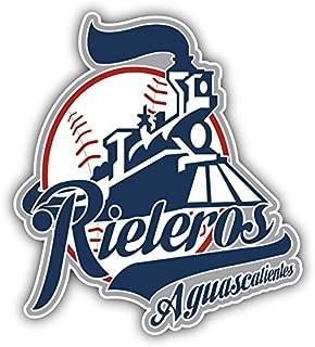qualityprint Rieleros de Aguascalientes MiLB Minor Baseball Combo Sport Decor Bumper Vinyl Sticker 4'' X 5''