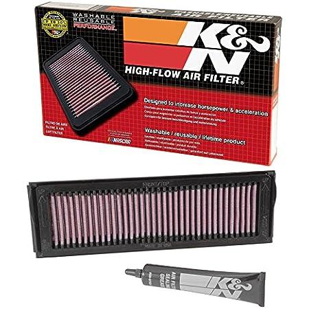 K N Ka 6098 Ersatz Luftfilter Kompatibel Mit Kawasaki Zx6r Ninja 98 02 Zzr600 05 08 Powersports Luftfilter Auto