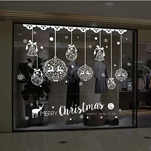 Navidad Etiqueta De La Ventana, Ventana De La Navidad Bola De Nieve...