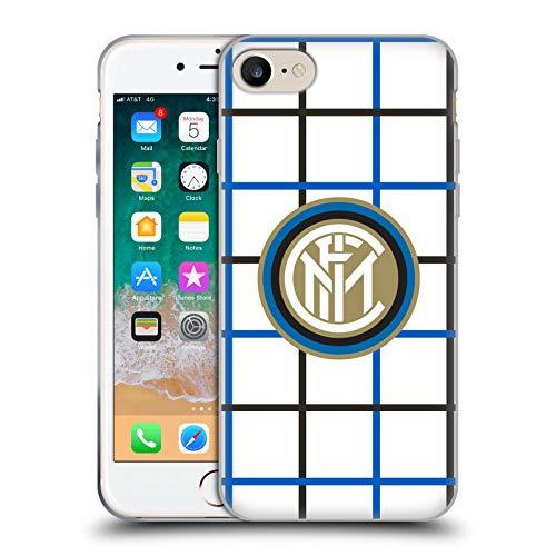 Head Case Designs Ufficiale Inter Milan Fuori Casa 2020/21 Kit Crest Cover in Morbido Gel Compatibile con Apple iPhone 7 / iPhone 8 / iPhone SE 2020