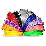 Soyan 3D Pen Filament Refill Pack, 12 Colors, 393.6 Feet, 1.75mm PLA