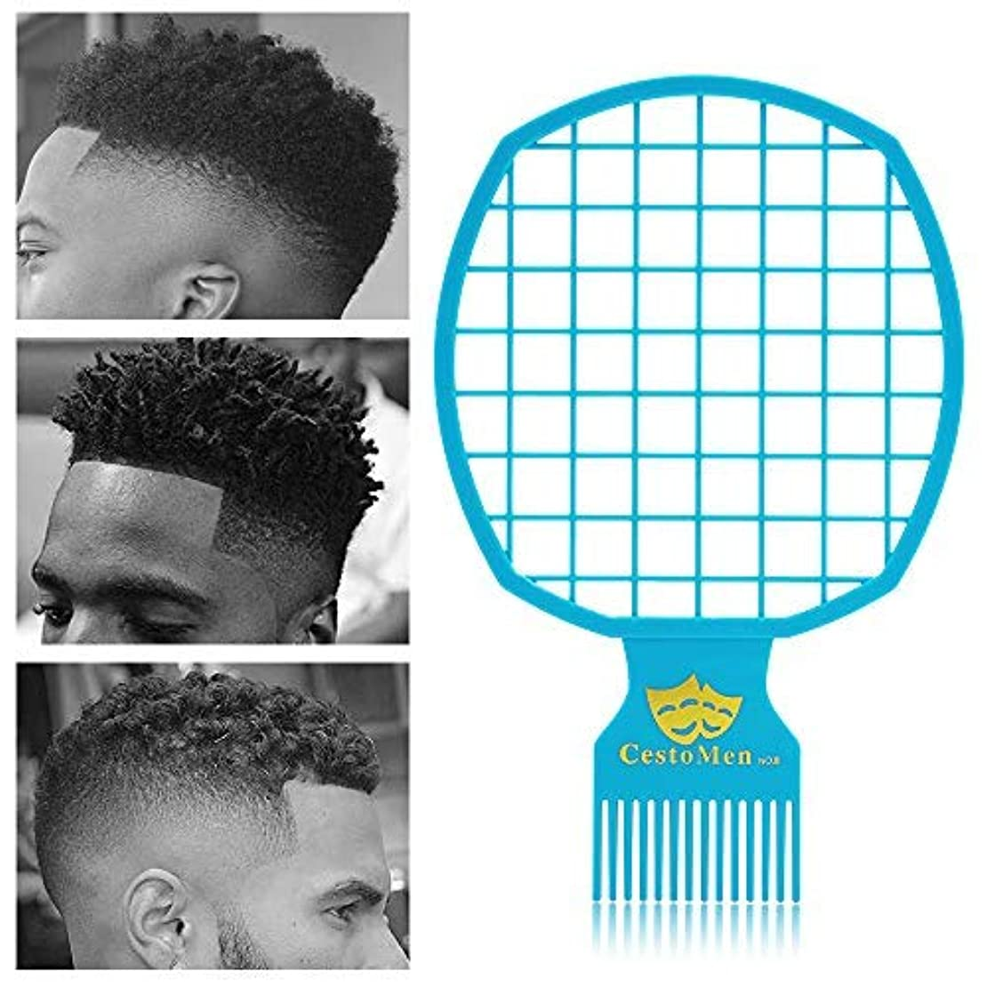 Magic Afro & Twist Comb - Weave Hair & Dreadlocks - For Barber and Personal Use - Easy to Clean (Blue) [並行輸入品]