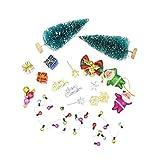 1/12 Puppenhaus Miniatur Weihnachten Dekoration Zubehör Set - Mehrfarbig