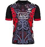 DZTIZI Rùgby Jérsey Men Nueva Zelanda All Blacks, Camiseta de Entrenamiento de Rùgby, Camisa Deportiva,Red-XXL