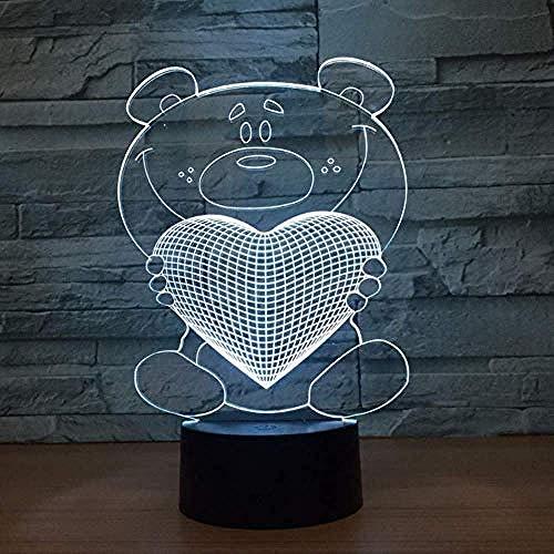 Meer Leuke Baby Meisje Kleur Glow 3D Kerstmis Speelgoed Romantische Karakter Tafel Decoratie Verlichting Transparante Acryl Abstract Kleur Veranderende Sfeerlamp Samen Jongen Desktop Voor Vorm Nieuwe Bureau