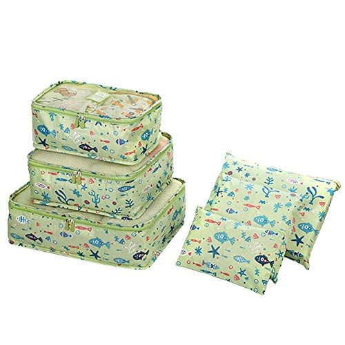 Aimili Cubos de embalaje para maleta, organizador de viaje bolsas de embalaje de viaje juego de cubos para ropa, organizadores de equipaje de viaje bolsas de almacenamiento