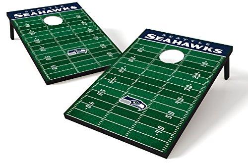 Wild Sports Seattle Seahawks NFL Cornhole Outdoor Game Set, 2' x 3' Foot - Recreational Series
