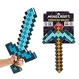 kids toys Juguete De Espada Y Pico Transformador 2 En 1, Espada De Diamante para Niños Minecraft Disk, Un Regalo para El Equipo De Arma De Espada Y Pico De Niño