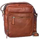 STILORD 'Nathan' Umhängetasche Herren Leder klein braun Vintage Herrentasche 10,1 Zoll Tablettasche für iPad echtes Leder, Farbe:Cognac - braun