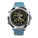 NONGLAN Smart Watch Sport Braccialetto Sport Fitness Tracker Luminoso Quadrante Luminoso Impermeabile Esercizio Monitor Pedometro Smartwatch per iOS Android(Color:Blu)