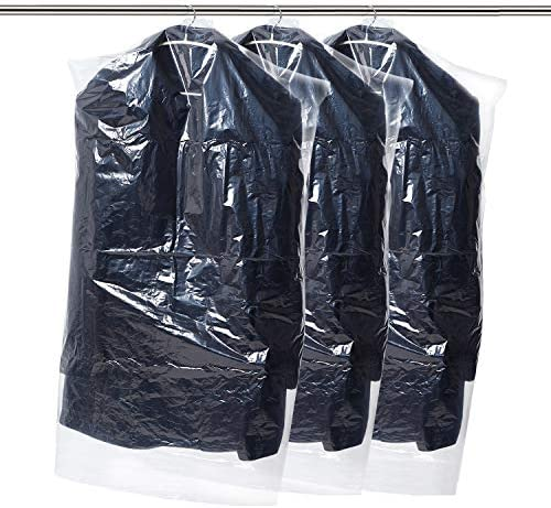 Smartor 54 Dry Cleaner Bags 50 Pack Dustproof Dry Cleaning Bags for Luggage Dresses Linens Storage product image