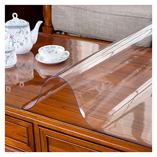 LSSB Claro Tabla Protector de La Cubierta PVC Vidrio Blando a Prueba de Agua Mantel de Plástico Absorbente De Sonido Resistente a Rayones Alfombra del Piso para Mueble de TV Oficina Hogar Cocina