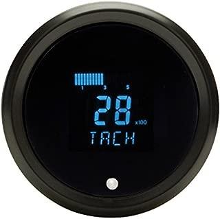 Dakota Digital Solarix Universal Round Performance Tachometer Gauge Blue Display Black Bezel SLX-02-1-K