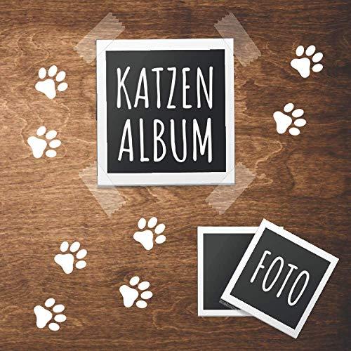 Katzen Album: tolles Fotoalbum für alle Katzenhalter   Erinnerungsalbum   Geschenkidee für Katzenbesitzer   Katzenalbum zum Festhalten schöner Momente mit deiner Katze   110 Seiten   21 x 21 cm