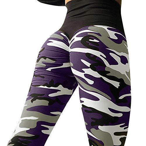 Junjie Leggins Camuflaje Tie-Dye para Mujer Pantalones Deportivos de Levante los Cadera Leggings Transpirables Elásticos Pantalón de Deporte Mallas Fitness Estiramiento Yoga y Pilates