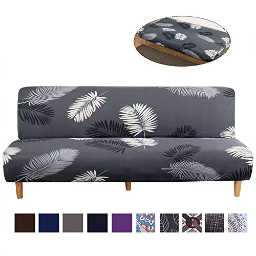 TOPCHANCES Folding Sofa Bed Cover,Elastic Stretch Soft Armless Sofa Slipcover Removable Machine Washable Non-Slip Furniture Protector for Sofa Bed (Printed #2599)